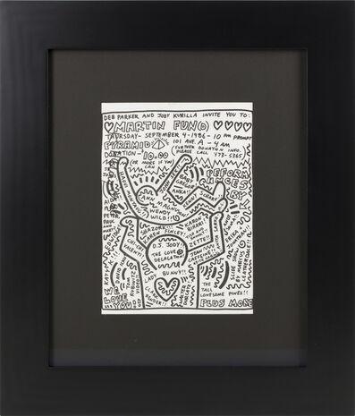 Keith Haring, 'Keith Haring and Andy Warhol Collaboration', 1986