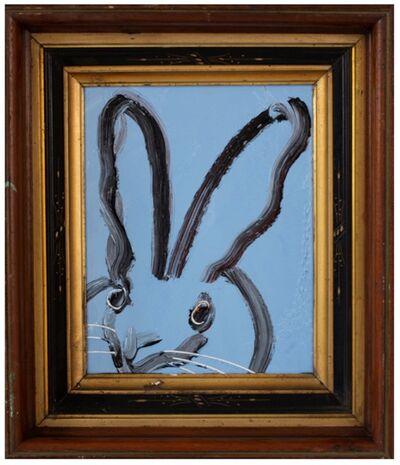 Hunt Slonem, 'Untitled, Black and White Bunny on Blue', 2018