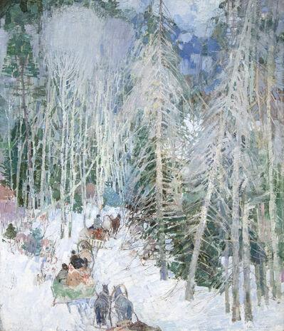 Leon Gaspard, 'Siberian Sleighriders', 1921