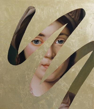 Lino Lago, 'Fake Abstract (Gold on Alexander Roslin)', 2021