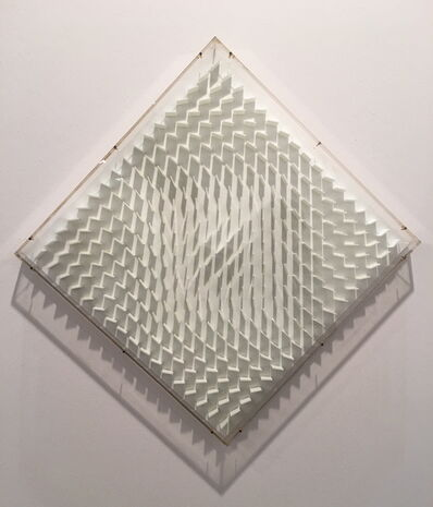 Hartmut Böhm, 'Quadratrelief (visuell veränderliche Struktur)', 1966