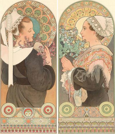 Alphonse Mucha, 'Heather & Sea Holly.', 1902