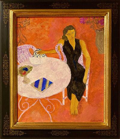 Pierre Boncompain, 'Robe noire sur la terrasse rose', 1938