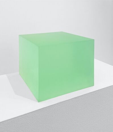 Peter Alexander, '10/7/16 (Flo Lime Box)', 2016
