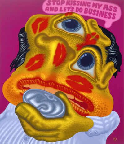 Peter Saul, 'Stop Kissing My Ass and Let's Do Business', 2001