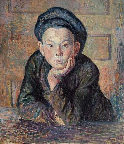 Maximilien Luce, 'Portrait of a Boy', 1895