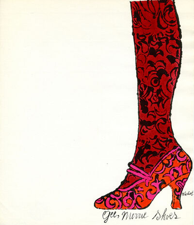 Andy Warhol, 'Gee Merrie Shoes', 1956