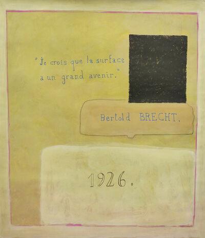 Jean-Michel Alberola, 'Bertol Brecht 1926', 2018-19