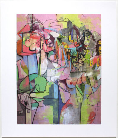 George Condo, 'Plate 4 Figure Change 2011', 2011