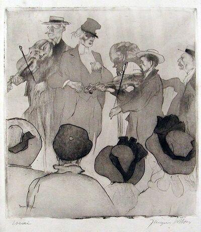 Jacques Villon, 'Le Concert sur la Plage (Musicians on the Beach)', 1907