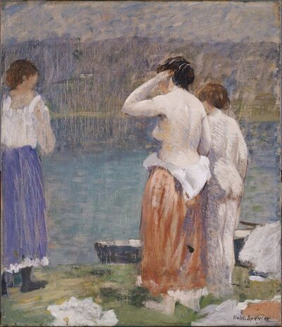 Robert Spencer, 'On the Bank', 1928-1931