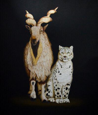 Isabelle du Toit, 'Markhor and Snow Leopard', 2017