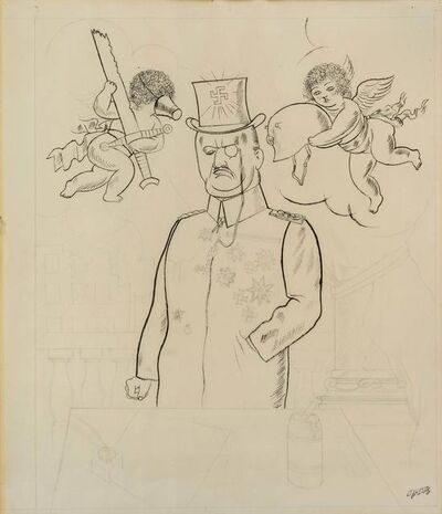 George Grosz, 'Statesman with Cherubs', 1920-25