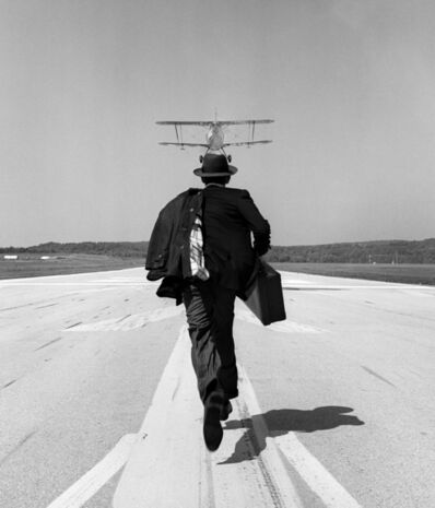 Rodney Smith, 'AJ Chasing Plane, orange County Airport, NY'