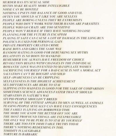 Jenny Holzer, 'Truisms Toronto Poster diptych', 1978