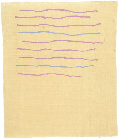Giorgio Griffa, 'Orizzontale', 1973