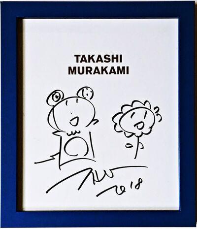 Takashi Murakami, 'Mr. Dob and Flower Drawing', 2018
