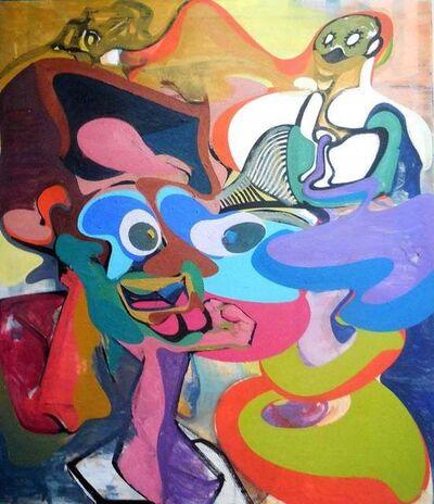 Peter Stauss, 'Phanomen Large Oil Painting Abstract Surrealist German Contemporary Art', 1990-1999