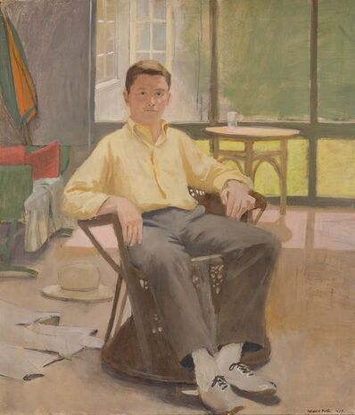 Fairfield Porter, 'Portrait of James Schuyler'