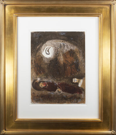 Marc Chagall, 'Ruth aux Pieds de Booz (Ruth at the Feet of Boaz), M 248/271', 1960
