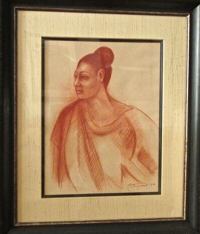 Raúl Anguiano, 'Mujer de Ocotlan', 1990