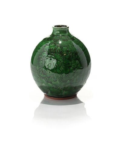 Jeffry Mitchell, 'Green Fish and Flower Globular Vase', 2020