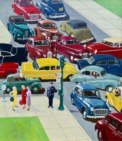 Earl Mayan, 'Traffic Jam, Saturday Evening Post Cover, April 28, 1956', 1956