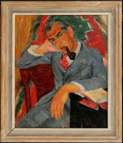 GABRO RAJČEVIĆ, 'Portrait of a Man with Pipe', 1936