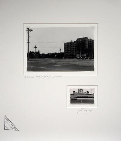 Lotty Rosenfeld, 'Plaza de la revolución / La habana / Ministerio El Trabajo con Che Guevara', 1985
