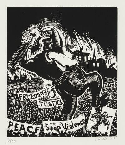 Sue Coe, 'Stop Violence', 2016
