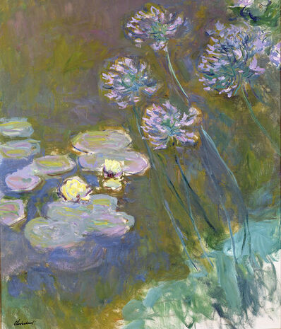 Claude Monet, 'Water Lilies and Agapanthus', 1914-1917