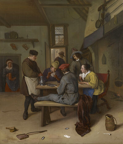 Jan Steen, 'Card Players in a Tavern', 1664