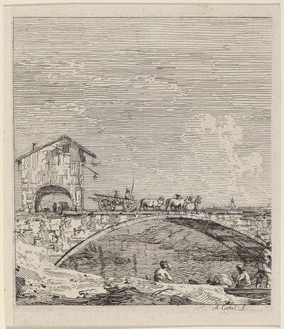 Canaletto, 'The Wagon Passing Over a Bridge', ca. 1735/1746