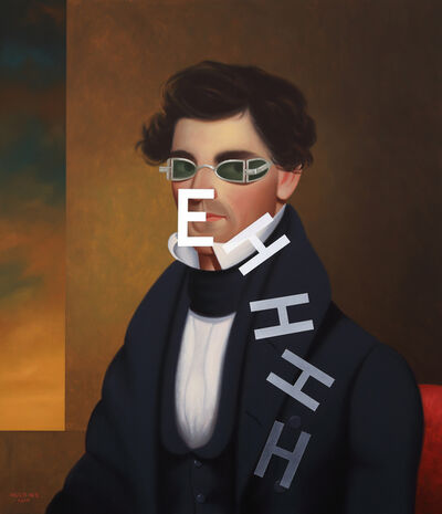 Shawn Huckins, 'Descending Eh: Portrait of Nathaniel Olds', 2019