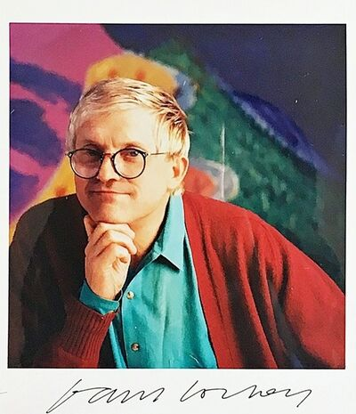 David Hockney, 'Hand Signed Color Photograph from the Estate of Hollywood Director Paul Bartel', ca. 1987