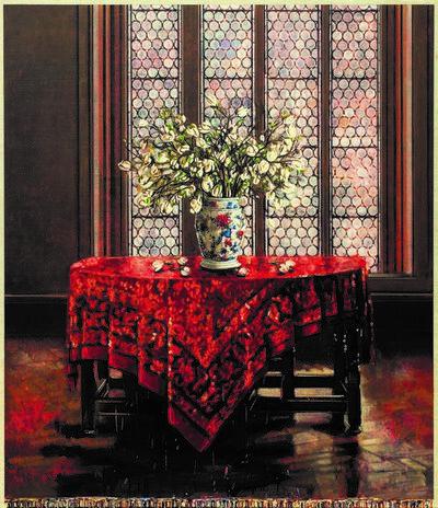 Jacques Payette, 'Quelques fleurs sur la table', 2019