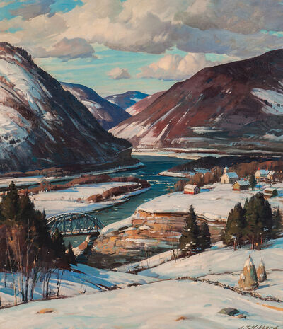 Aldro Thompson Hibbard, 'Vermont River Valley in Winter'