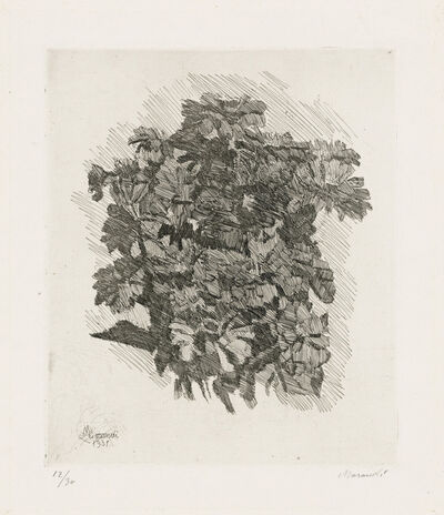 Giorgio Morandi, 'Gruppo di Zinnie', 1931