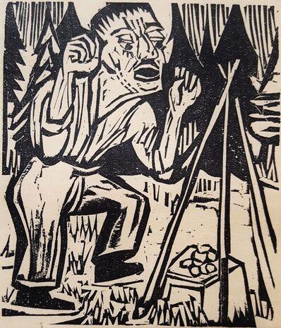Ernst Ludwig Kirchner, 'Der Briggel: Briggel verflucht das Geld (Briggel: Briggel Cursing Money)', 1923