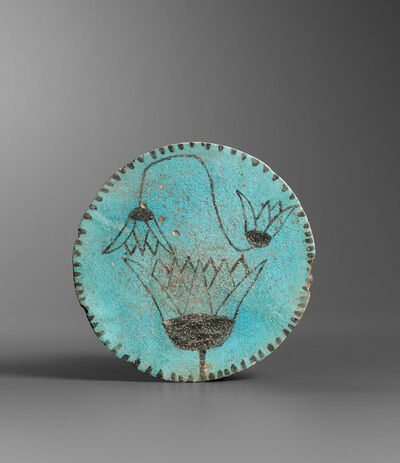 Unknown Egyptian, 'Ancient Egyptian Faience Plate with Lotuses', end of New Kingdom Third Intermediate Period (late 2nd early 1st millennium B.C.)