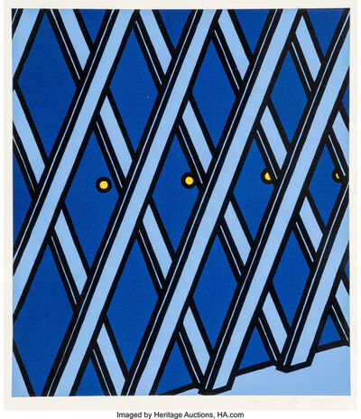 Patrick Caulfield, 'I'll take my life monotonous, from Some Poems of Jules LaForgue', 1973