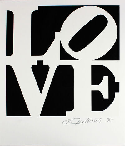 Robert Indiana, 'Love, Black and White from The Book Of Love', 1996