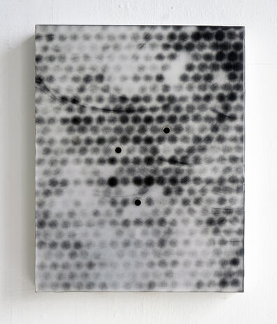 Carrie Yamaoka, '10 by 8 (black bubble, holes)', 2015