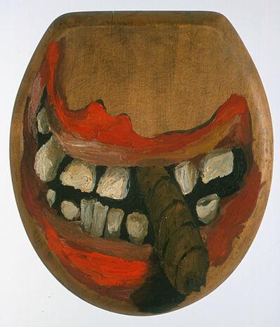 Lee Lozano, 'No Title (toilet lid)', c. 1962-1963