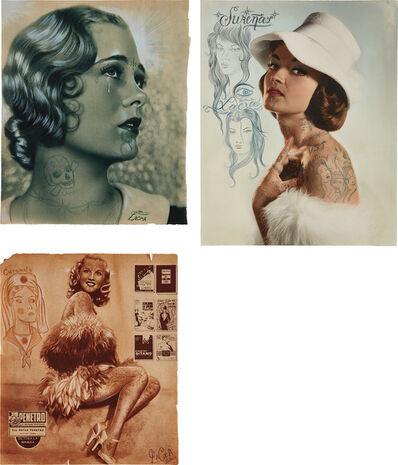 Dr. Lakra, 'Three works: (i) Untitled (lagrima II); (ii) Untitled (penetro); (iii) Untitled (sombrero rosa)', 2005