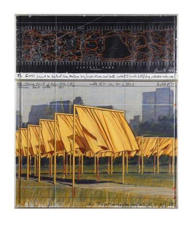 Christo, 'The Gates: Project for Central Park, New York City', 1987