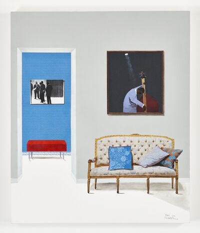 Sam Nhlengethwa, 'Floral cushions', 2020