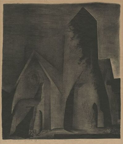 Benton Spruance, 'Church at Night', 1932