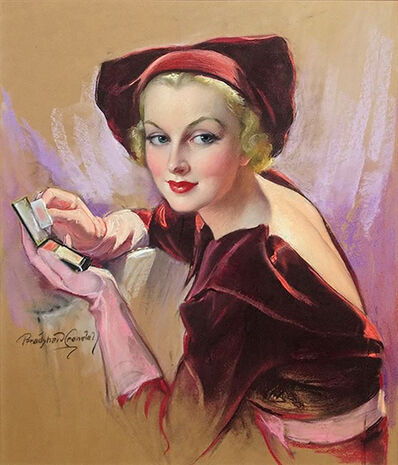 Bradshaw Crandell, 'Carole Lombard Holding Compace, Cosmopolitan Magazine Cover', 1935