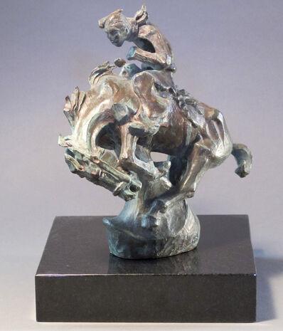 Allan Houser, 'Cowboy Bronco Rider', 1967